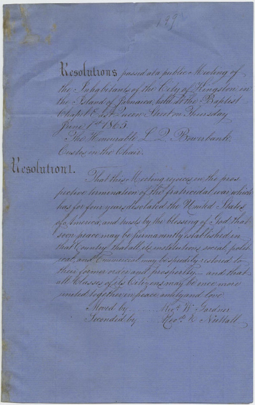 Resolutions of the Inhabitants of Kingston