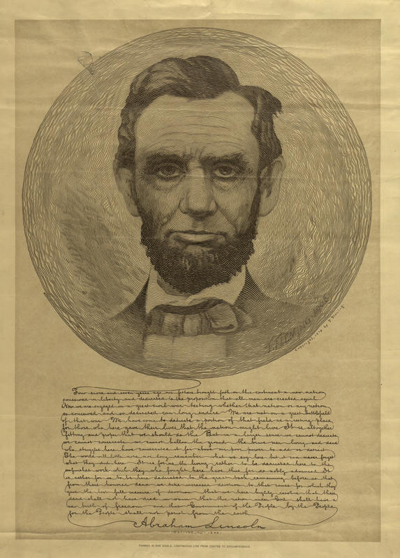 IO Images 151-200- Continuous line drawing of Lincoln with Gettysburg Address.jpg