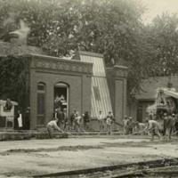 Men Constructing Street in Astoria