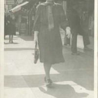 Florence Fifer Bohrer Walking Down Street