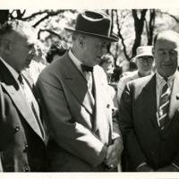 Adolph Germer, Claude Ballard, & Adlai Stevenson II