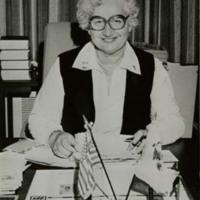 Adeline Geo-Karis at Desk