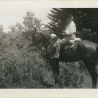 Florence Fifer Bohrer on Horseback