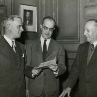 Dwight H. Green, George Bunn, and Henry Converse