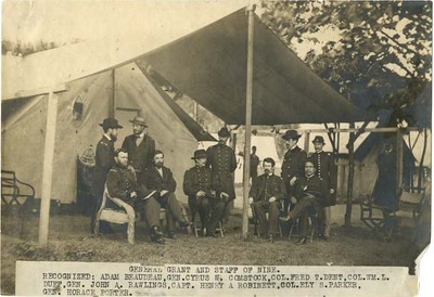 General Grant and Staff of Nine