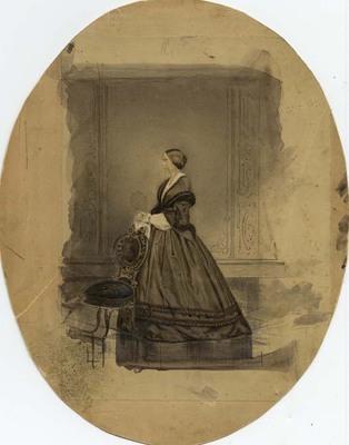 Julia Maria Jayne Trumbull Watercolor