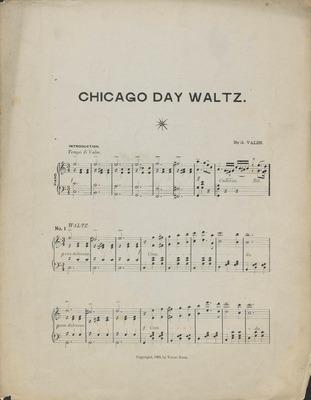 Chicago Day Waltz, October 9th, 1893