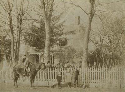 Group Outside House