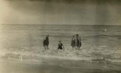 Casper J. Jacoby, Sr. and Family at Beach