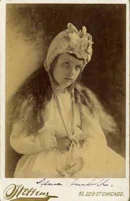 Alma Trumbull Wearing Bonnet