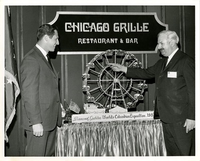 World's Coumbian Exposition Ferris Wheel Model