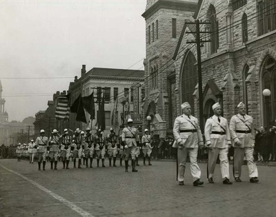 Commonwealth-Edison Drum and Bugle Corps in Inauguration Parade