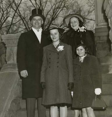 Green Family at Inauguration