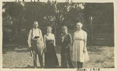 James L. Adams, Laura Lavinia Adams, Mary Caroline Snyder, and Margery Adams