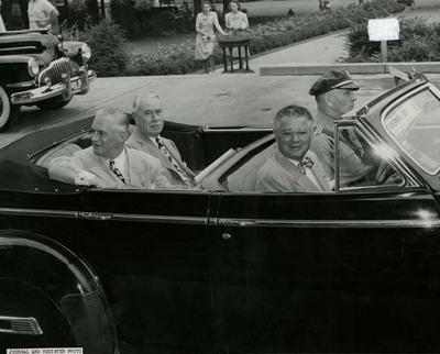 Dwight H. Green, Robert R. McCormick, and C. Wayland Brooks