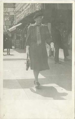 Florence Fifer Bohrer Walking Down Street