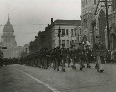 Company C, 130th Illinois Infantry in Inauguration Parade