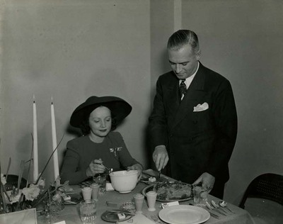 Dwight H. Green and Mabel Kingston at Soybean Dinner