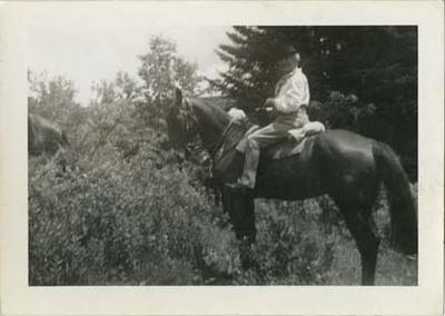 Florence Fifer Bohrer on Horseback
