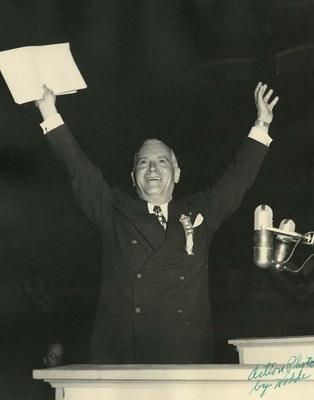 Dwight H. Green at Podium