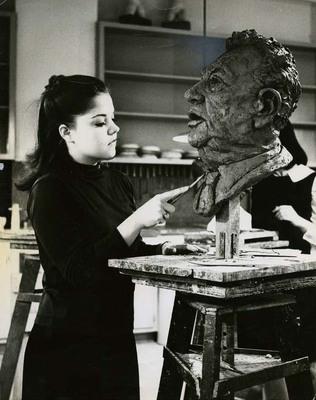 Madeleine Dinges and Sculpture