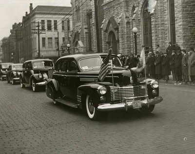Dwight Green's Car in Inauguration Parade