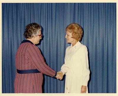 Adeline Geo-Karis and Pat Nixon