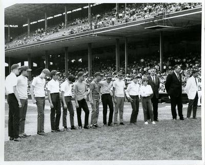 Youth Baseball Players at White Sox Game