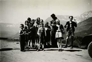 Bavarian Children Peddling Postcards